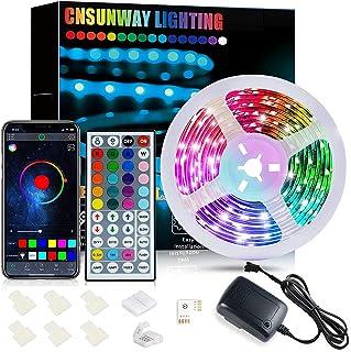 LED Strip 6M, CNSUNWAY RGB SMD 5050 Bluetooth Musik Sync LED Streifen LED Lichtband, APP Steuerung und 44 Tasten Fernbedie...