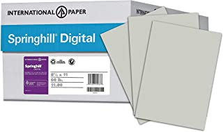 Springhill Colored Paper, Cardstock Paper, Gray Paper, 67lb, 147gsm, 8.5 x 11, 8 Reams / 2,000 Sheets - Vellum Card Stock, Thick Paper (066000C)
