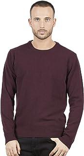 83738cb8c6 BRUNELLA GORI Pull Pullover Homme Ras du Cou en superfiin Australien Laine  d'agneau Color