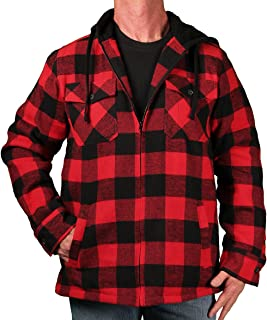 Best buffalo plaid lined hooded jacket Reviews