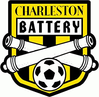 Crazy Discount Charleston Battery FC USL Soccer Vinyl Sticker Decal Outside Inside Using for Laptops Water Bottles Cars Trucks Bumpers Walls, 3