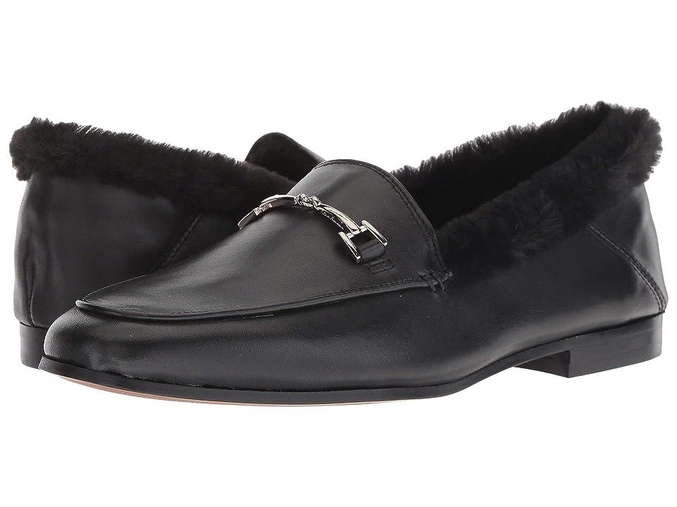 Sam Edelman Loraine (Black Leather Modena Calf Leather/Short Plush Fur) Women