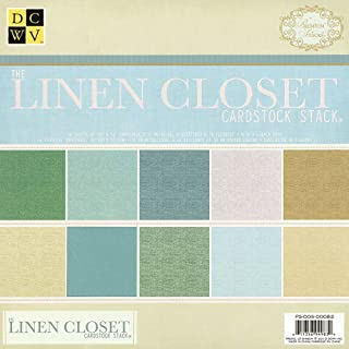 DCWV PS-005-00082 12 by 12 Linen Solid Stack