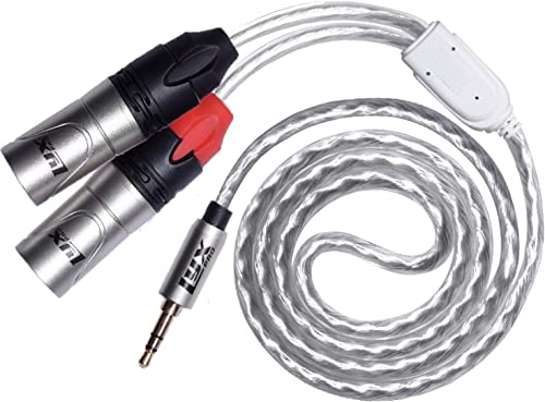 lowest LyxPro Y-Cable 3.5mm TRS Male to 2 XLR Male sale Stereo Audio Y-Splitter Adapter new arrival Cable - 3 Feet outlet sale