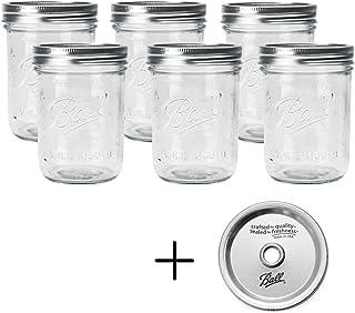BALL 【ボール】Mason Jar メイソンジャー 16oz ワイドマウス ガラス保存瓶 (500ml) 6本セット