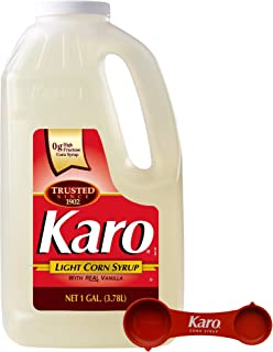 Karo - Light Corn Syrup with Real Vanilla, 1 Gallon Bottle - Includes Karo Measuring Spoon