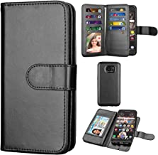 Takfox Samsung Galaxy S7 Edge Wallet Case, PU Leather Wallet Magnetic Flip Kickstand Protective with 9 Card Holder Cover Detachable Case for Galaxy S7 Edge-Black