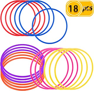 PRALB 18 PCS 18cm Plastic Multicolor Toss Rings Plastic Toss Rings for Speed and Agility Practice Games, Carnival, Garden, Backyard, Outdoor Games