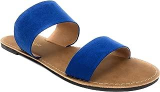 Women's Double Strap Slip-On Slide Flat Sandal