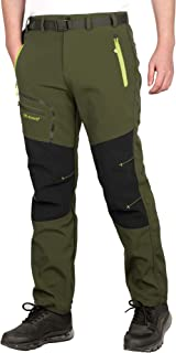 CARETOO Herren Hosen Verdickte Atmungsaktiv Outdoorhose Softshellhose Wanderhose Jogging Berghose Sport Skihose Trekkinghose Winddicht Warm Herbst Winter Frühling