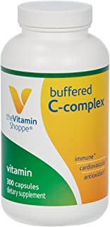 The Vitamin Shoppe Buffered C Complex, Antioxidant That Supports Immune Cardiovascular Health, NonAcidic (300 Capsules)