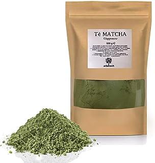 ERBOTECH Tè Matcha/Tè Verde Giapponese in Polvere da 100g, Multivitaminico Naturale al 100%, Qualità Premium, Vegan, Made ...
