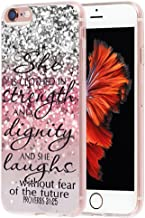 Case for iPhone 8 Bible Verse for Girls MUQR Cover Protective Slim Rubber Fashion Silicone Case for iPhone 8 & 7 - Christian Songs