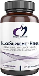 Designs for Health GlucoSupreme Herbal - Berberine HCl, Banaba, Ginseng + Cinnamon Extract Designed to Support Healthy Ins...