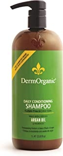 DermOrganic Daily Conditioning Shampoo with Argan Oil - Sulfate-Free & Color-Safe, 33.8 fl.oz.