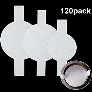 120 Pieces Precut Circle Cake Pan Liners Round Parchment Paper Non-stick Parchment Paper with Lift Tabs for Baking, White (6 Inch, 8 Inch and 9 Inch)