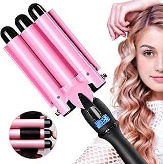 3 Barrel Curling Iron Hot Tools Curling Iron Fast Heating Ceramic Hair Waver Curler 25mm Hair Curling Wand (style1)