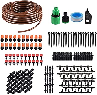 15m Tubing Hose Plant Watering Irrigation Drip Kit Accessories Atomizing Nozzle Mister Dripper Random Color