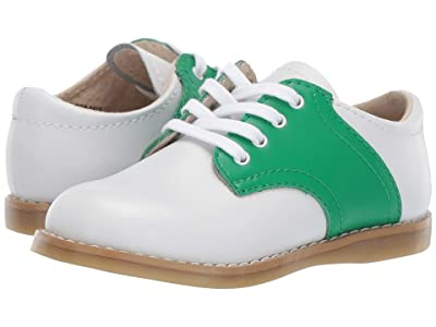 FootMates Cheer 3 (Infant/Toddler/Little Kid) (White/Kelly Green) Kids Shoes
