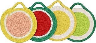 Mia'sDream Grey Kitchen Potholders Set Trivets Set 100% Pure Cotton Thread Weave Hot Pot Holders Set Hot Pads Hot Mats, Ro...