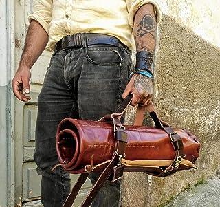Borsa da chef porta coltelli in Vera Pelle artigianale custodia coltelli fatta a mano borsa per cuoco borsa per chef made ...