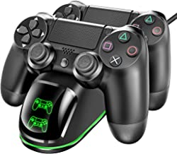 Carregador controlador Ovo PS4 compatível com controle Playstation 4 Dualshock 4, estação de ancoragem de carregamento rem...