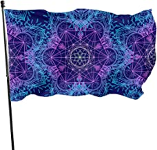 Sacred Geometry Symbols Garden Flag Weather Resistant Game Flag - Only One Side - 3 X 5 Ft
