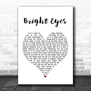 Bright Eyes Heart Song Lyric Quote Music Poster Gift Present Art Print