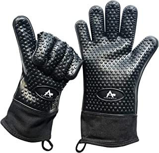 PREMIUM Quality BLACK Silicone Oven Mitts - ONLY on AMAZON