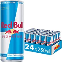 Red Bull Energy Drink Sugarfree Dosen Getr?nke Zuckerfrei 24er Palette, EINWEG (24 x 250 ml)