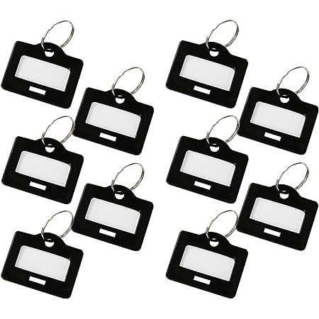 HMF 180002-10 x Schlüsselanhänger, schwarz