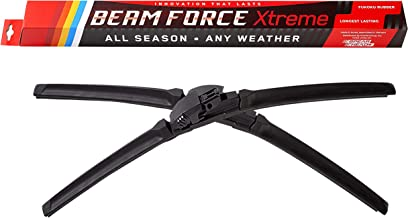 """Beam Force XTREME 26""""+16"""" Wiper Blades w/Japanese Fukoku Rubber for Longest Life, 6-MO Warranty (Pair)"""
