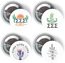 Sigma Sigma Sigma Sorority Cactus Desert Variety Pack of Buttons Pin Back Badge 2.25-inch Tri-Sigma