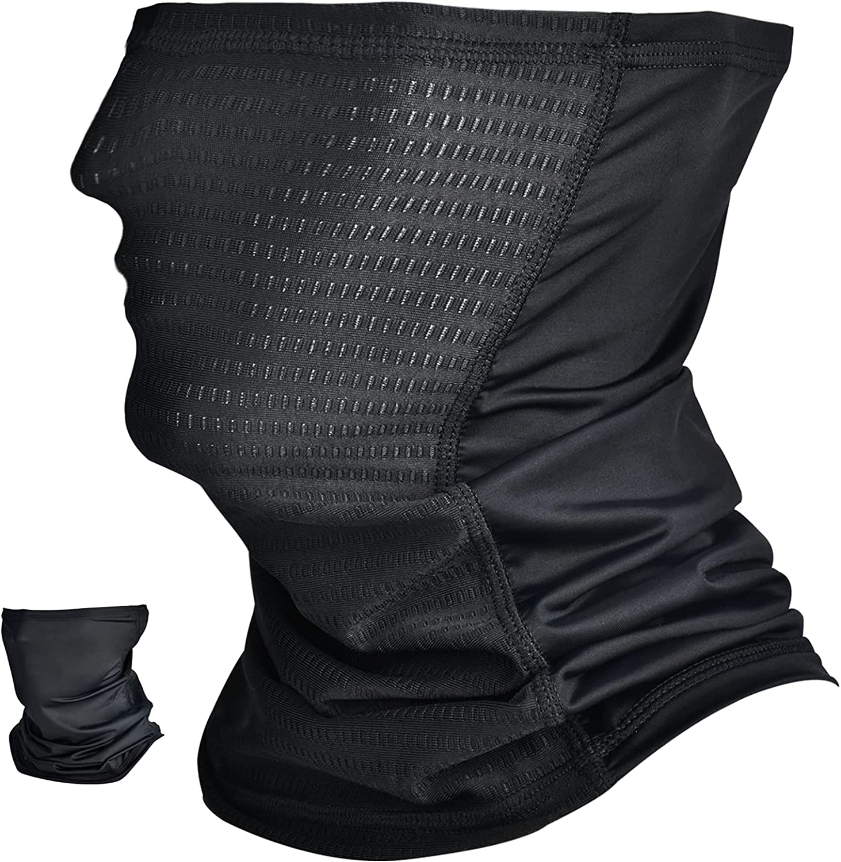 Neck Gaiter Face Mask Men Bandana Balaclava Reusable for Sun Dust Protection