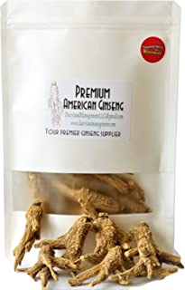 Authentic American Ginseng Whole Root 西洋参 (Non-GMO, Gluten Free Herb, Wisconsin Root) (16 oz)