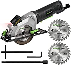 "GALAX PRO 4Amp 3500RPM Circular Saw with Laser Guide, Max. Cutting Depth1-11/16""(90°), 1-1/8""(45°)Compact Saw with 4-1/2"" ..."