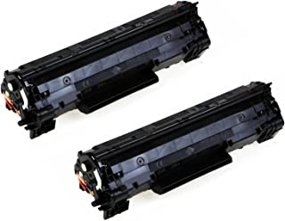 HQ Supplies Premium Compatible Replacements for 2 HP 36A Black Toners, 2 HP CB436A for HP LaserJet M1522n MFP, M1522nf MFP, P1505, P1505n Printers