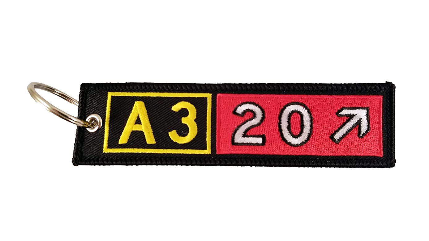 Airport Taxiway Sign Keychain (Airbus A320)