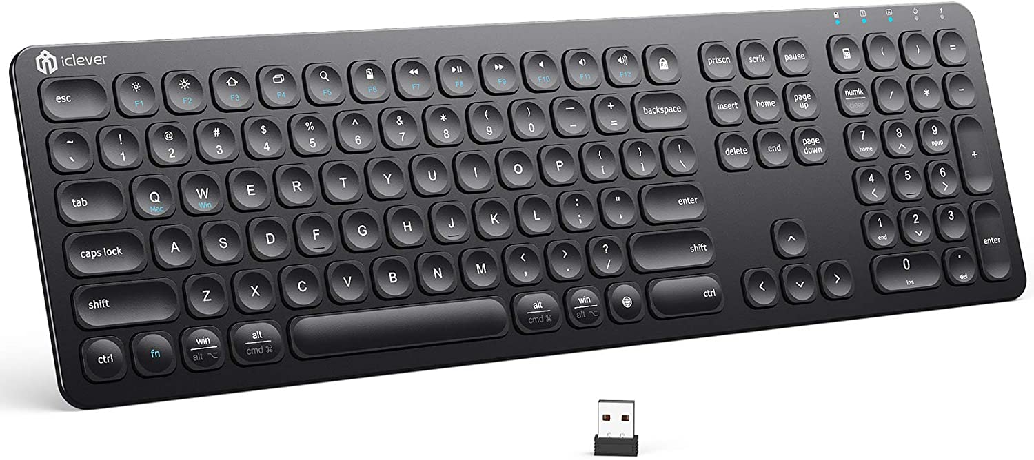 iClever GKA38B 2.4G Rechargeable Wireless Black Keyboard $15.99 Coupon