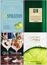 Ginspiration, gin the manual, tonica, 101 gins to try before you die 4 books collection set