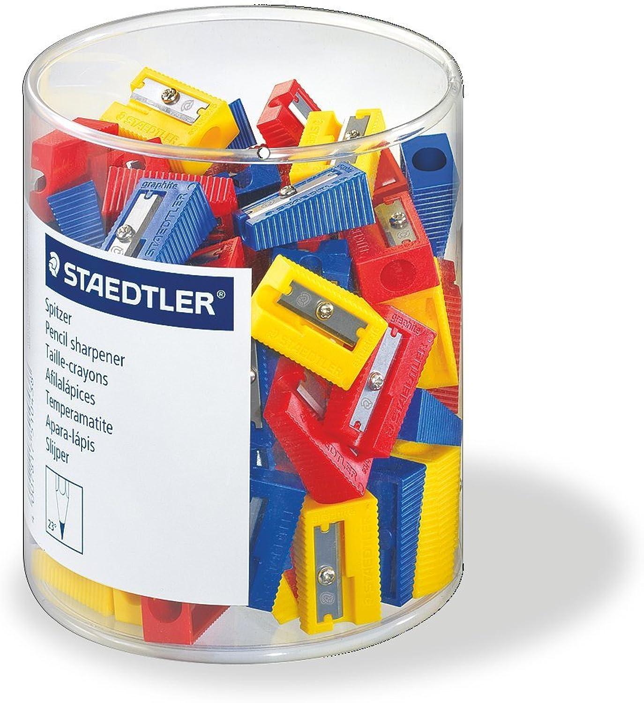 Staedtler 51050KP100 Spitzer für Bleistifte farblich sortiert, sortiert, sortiert, 100 Stück in Köcherverpackung B001BFMB7S      Verpackungsvielfalt  025745