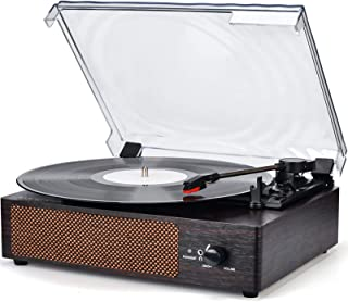 Record Player Turntable Wireless Portable LP Phonograph with Built in Stereo Speakers 3-Speed Belt-Drive Turntable Vinyl R...