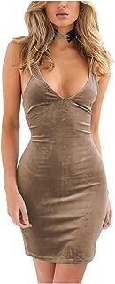 Doramode Women's Adjustable Strappy Split Deep V Neck Summer Beach Casual Midi Dress