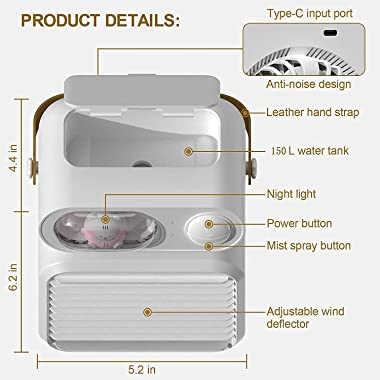 Multifunctional 3 In 1 Tent Air Conditioner Air Conditioner For Car Ac Unit Portable Mini Air Conditioner, Soft Night Light T