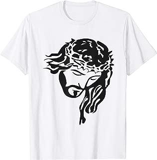 jesus face t shirt