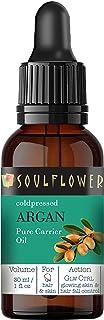 Soulflower Argan Morocco Oil For Hair & Skin, Frizz Control, Hair Serum, Moisturizer, Supple Soft Skin, Night Serum, Premi...