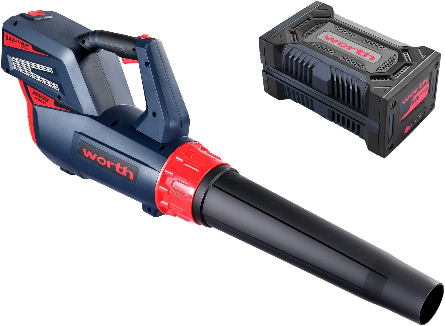 WORTH Cordless Max 49% OFF Virginia Beach Mall Leaf Blower - Lithium-ion 84v with Ba