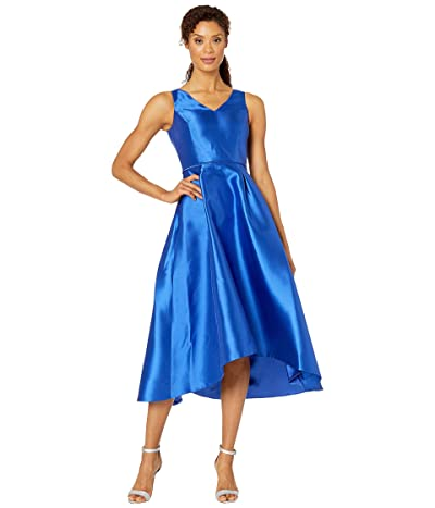 Tahari by ASL Sleeveless Mikado High-Low w/ V-Neckline (Royal) Women