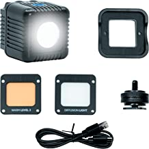Lume Cube 2.0   Adjustable Daylight Balanced LED Light   for Photo and Video, Content Creation   Includes Warming Gel, Dif...