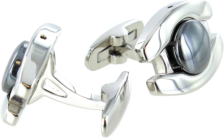 Rochet Roma Hematite Classic Design Stainless Steel Elegant Cufflinks